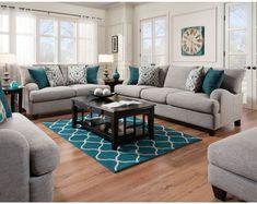 Merveilleux Franklin Penelope Sofa And Loveseat 55PENELOPE Dark Teal Living Room,  Modern Living Room Colors,