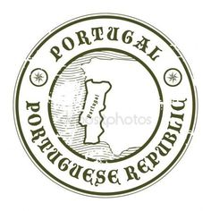 Grunge rubber stamp with the name and map of Portugal, vector illustration - stock vector Compass Drawing, Passport Stamps, Car Bumper Stickers, Vintage Stamps, Portugal Travel, Custom Stamps, Instagram Highlight Icons, Aesthetic Stickers, Travel Posters