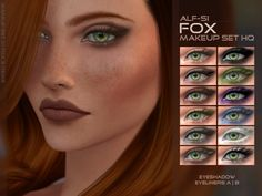 Found in TSR Category 'Sims 4 Makeup sets' Fox Makeup, Dramatic Eye Makeup, Hooded Eye Makeup, Colorful Eye Makeup, Makeup For Green Eyes, Smokey Eye Makeup, Eyemakeup For Brown Eyes, Sims 4 Cc Eyes, Eye Makeup Pictures