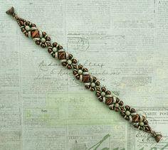 Linda's Crafty Inspirations: Bracelet of the Day: Wheely Pwetty - Mint Chocolate