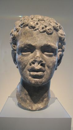 African Man: Roman, 1st/2nd Century AD, Marble -- Of Gods & Glamour exhibit at the Art Institute Chicago #ArtInstituteChicago