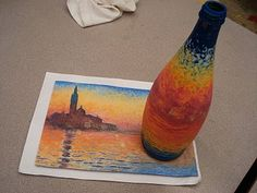 Art History on a Bottle...Maybe create a form that incorporates elements from a chosen 2D artwork.