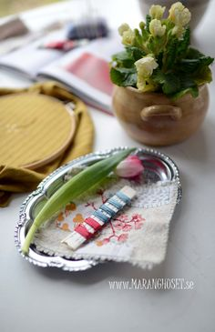 Vintage Cotton Thread - Handpicked Stitching Kit  - For simple Embroidery - DIY - Vintage creations