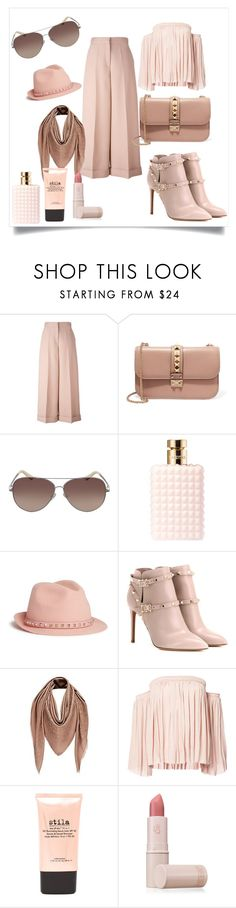 """""""Trip to DC"""" by chauert ❤ liked on Polyvore featuring Valentino, Louis Vuitton, Elizabeth and James, Stila and Lipstick Queen"""