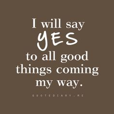 Yes, yes we will!