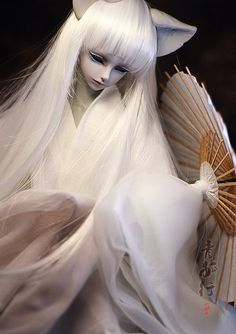 Fantasy   Whimsical   Strange   Mythical   Creative   Creatures   Dolls   Sculptures   a white fox