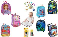 """#1 - Sofia the First """"Best Princess in Class"""" Backpack #2 - Lalaloopsy 16"""" Backpack Cute from Top to Button! #3 - Lego Friends So Sweet 16 inch Backpack - Purple/Pink #4 - Disney Monsters University Pencils and Pencil Toppers Set #5 - Disney Planes Own The Sky Backpack  #6 - Disney Pixar Monsters Inc. Backpack #7 - Monsters University Sulley & Mike Backpack #8 - Lego - Legends of Chima Backpack - The Lion Tribe #9 - Lego 4-Pack Colored Markers. To order: http://www.shopaholic.com.ph/"""