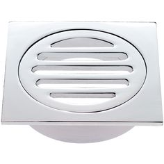 Kinetic 80mm Chrome Plated Square Floor Grate