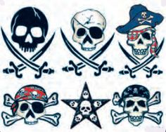 Pirate Skulls 2 Tattoos