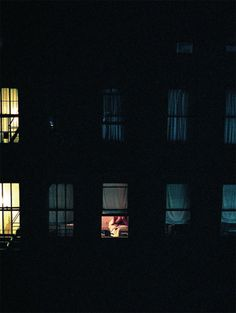 Looking through rear windows at night...