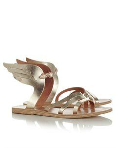 Gold Ikaria Winged Sandals Ancient Greek Sandals
