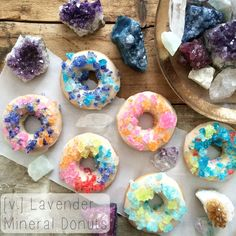 Vegan Mineral Rock Candy Donuts [lavender vanilla] | The Friendly Fig