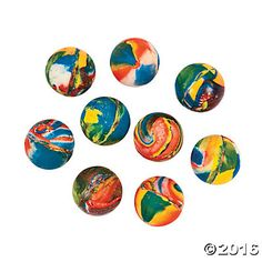 Swirl Mini Bouncing Balls