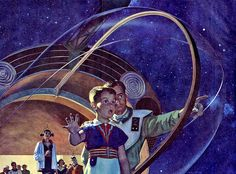 Ray Bradbury was one of those few science fiction writers embraced by a mainstream audience as well as the SF/Sci-Fi geeks. His work spanned. Art Science Fiction, Pulp Fiction, Pop Art, Street Art, Comics Illustration, Atomic Age, Love Drawings, Geek Culture, Sci Fi Art