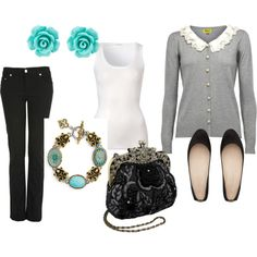 I love vintage-inspired outfits:)