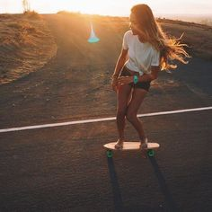 The way the sun shines through her hair as she skates gracefully makes me happy