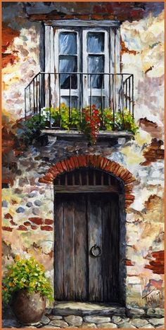New Ideas For Art Painting Abstract Diy Inspiration Watercolor Landscape, Watercolor Art, Painting Abstract, Acrylic Paintings, Abstract Nature, Diy Painting, Pictures To Paint, Art Pictures, Old Doors