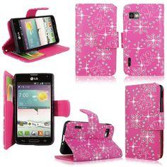 LG Optimus F3 Cute Case (pink glitter)
