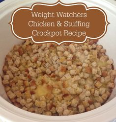 Weight Watchers Chicken and Stuffing Crockpot Recipe