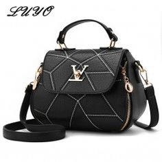 2017 Fashion Woman Geometry Small V Style Saddle Luxury Handbags Crossbody  For Women Famous Brands Messenger fb103bef3f0f8