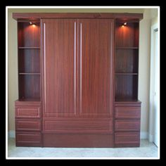 typical Murphy bed