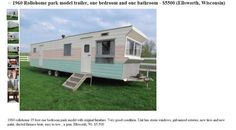 vintage moble homes   Vintage 1960 Time Capsule Rollohome Mobile Home Trailer For Sale!   No ...