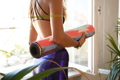 Eco-friendly, printed yoga mats created to add colour to your home or studio.
