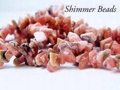 """36"""" Strand Natural Rhodochrosite Chips"""