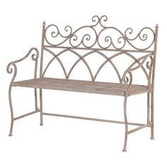 Metal Folding Garden Bench