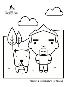 1000 images about cesar millan es on pinterest for Cesar chavez coloring page