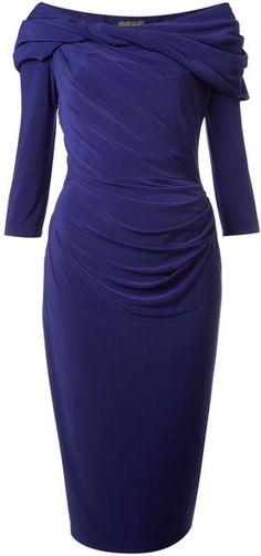 PIED A TERRE Long Sleeve Slinky Jersey Dress