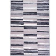 Home Dynamix Bazaar City Stripes Gray 7 ft. 10 in. x 10 ft. 2 in. Indoor Area Rug-1-6528-29 - The Home Depot