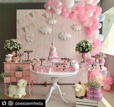 50 Baby Shower Decorations Image Ideas - How To Plan Guide - CasaNesia Fiesta Baby Shower, Baby Shower Niño, Baby Shower Princess, Girl Shower, Baby Shower Parties, Baby Shower Themes, Baby Birthday, Birthday Parties, Decoracion Baby Shower Niña