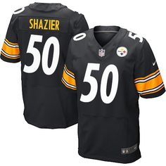 Ryan Shazier Men's Elite Black Jersey: Nike NFL Pittsburgh Steelers Home #50