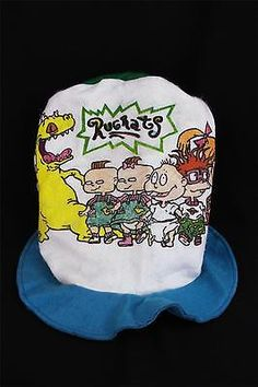 c79aa004426a2 Vintage 1990s Nickelodeon RUGRATS Tall Plush Hat Chuckie Tommy Reptar  Angelica
