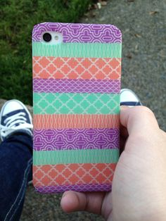 DIY iPhone case with washi tape
