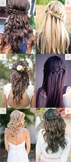 waterfall braid for wedding hair Pretty Hairstyles, Braided Hairstyles, Wedding Hairstyles, Bridesmaid Hair, Prom Hair, Wedding Hair And Makeup, Hair Makeup, Hair Dos, My Hair
