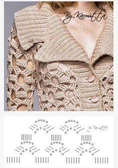 But very open stitch 2019 Interesting sweater. But very open stitch The post Interesting sweater. But very open stitch 2019 appeared first on Yarn ideas. Pull Crochet, Mode Crochet, Crochet Coat, Crochet Jacket, Crochet Cardigan, Crochet Clothes, Knit Shrug, Crochet Beach Dress, Chunky Yarn