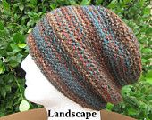 The Spiral Slouchy, Crochet Mens Slouchy Hat, Beanie, Snowboard, Ski Hat, Crochet Women's Slouchy