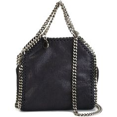 Stella McCartney tiny 'Falabella' tote (€710) ❤ liked on Polyvore featuring bags, handbags, tote bags, blue, purses, leather tote handbags, handbags totes, faux leather tote bag, blue tote bag and leather hand bags