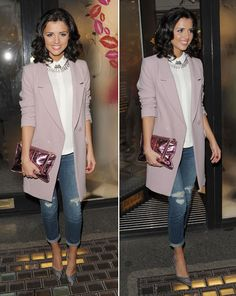 The former TOWIE star upped her style game for the swanky bash [Wenn]