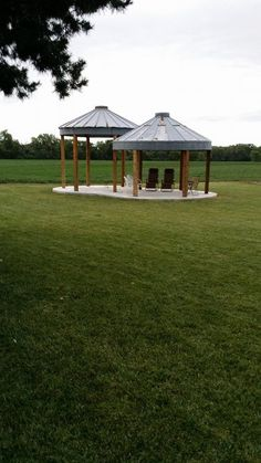 Grain Bin Gazebos with newly poured cement, next step hot tub :). but not until after wheat harvest. Patiently waiting...UPdATED-SEE REST OF MY OUTDOOR BOARD