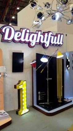 DelightFULL at 100% Design London September 2014 - Booth L1 http://www.delightfull.eu/  #LDF14 #100design #londondesignfestival  #designtrends #suspensionlamps #neonlamps #designtips