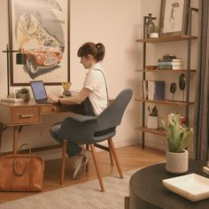 An Office Refresh That Will Make You Want to WFH ~ Weekend Refresh is part of Diy office decor - Transform your home office from an ordinary extra room with a desk into an extraordinary workspace oasis in just 48 hours Home Design Decor, Home Office Design, Home Office Decor, House Design, Home Decor, Office Room Ideas, Diy Room Decor, Bedroom Decor, Office Interiors