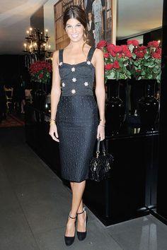 Bianca Brandolini d'Adda  wearing Dolce & Gabbana
