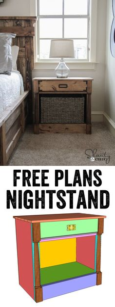 LOVE these nightstands! Free plans and tutorial at www.shanty-2-chic.com !