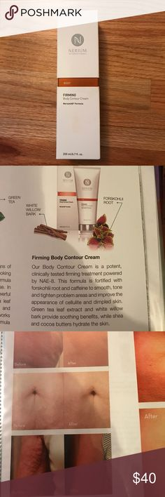 Nerium body contouring creme! I used to be a nerium rep and have some left over merchandise since I stoped when I changed jobs. This is a full bottle never used. Comes with insert and box. Retails for 98.00!!!! So great deal, just trying to get some money back. Helps with cellulite, aging skin, helps tighten and hydrate! Any questions please ask. Nerium Makeup
