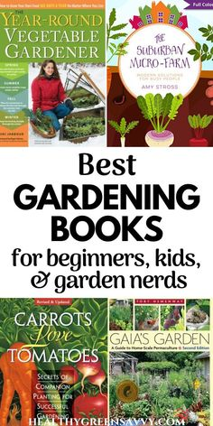 These inspiring garden books will be welcome additions to your home gardening library. Check out the top recommendations for gardening books for beginners, garden nerds, permaculture fans, and kids. #gardeningbooks #gardenbooks #gardentips #giftideas Gardening Books, Gardening Tips, Perennial Vegetables, Tomato Garden, Urban Homesteading, Grow Your Own Food, Growing Herbs, Companion Planting, Inspirational Books