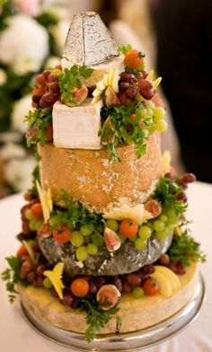 This Cake Made of A Variety of Cheeses Is Perfect For Any Event With Great Wine!