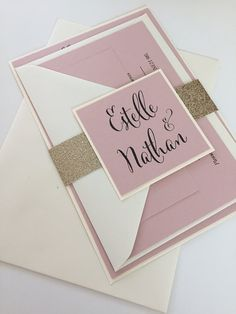 1 Rustic Pink/Gold Glitter 'Estelle' Wedding by TheVowSheffield